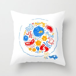 Primary soup Throw Pillow