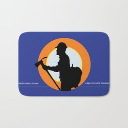 Creative Acre Foundation (CAF) Support poster Bath Mat