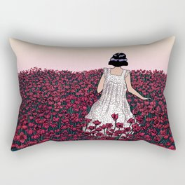 Field of Poppies | Colour Version Rectangular Pillow