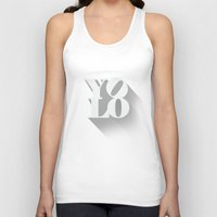 yolo Tank Tops featuring YOLO by tomodachi