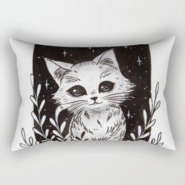 White Kitty Rectangular Pillow