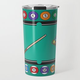 Billiards Table and Equipment Travel Mug