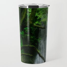 Waterfall in Azores islands Travel Mug