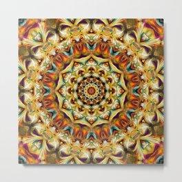 Flower Of Life Mandala (Spring Garland) Metal Print
