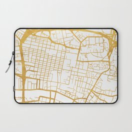 GLASGOW SCOTLAND CITY STREET MAP ART Laptop Sleeve