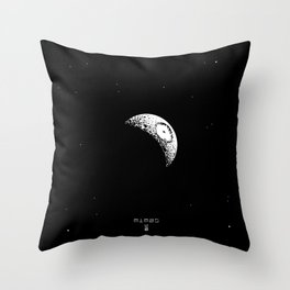 MIMAS - The Real Death Star Throw Pillow