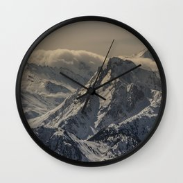 MOUNTAIN - RANGE - SNOW - PHOTOGRAPHY Wall Clock