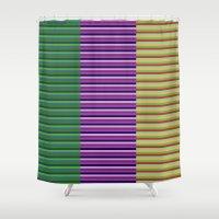 grace Shower Curtains featuring grace by Leone Bachega
