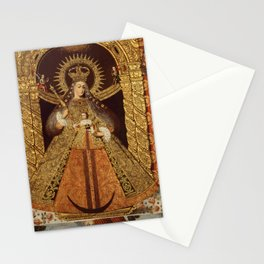 Luis Niño - Virgin of the Victory of Malaga (1740) Stationery Cards