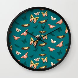 Butterfly Swarm Wall Clock