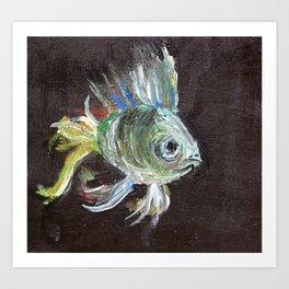 Rainbow Fish Art Print