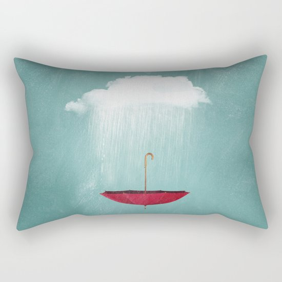 EMBRACING the rain Rectangular Pillow