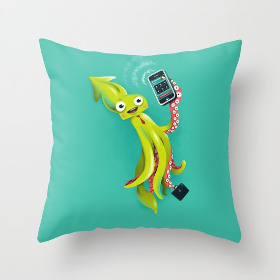 SQUID RINGS Throw Pillow