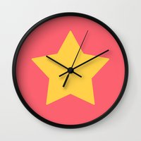 steven universe Wall Clocks featuring Steven Universe by JoSumdac