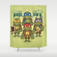 tmnt Shower Curtains featuring TMNT by Micka Design