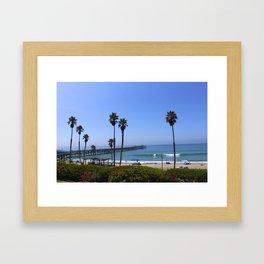 San clemente pier  Framed Art Print