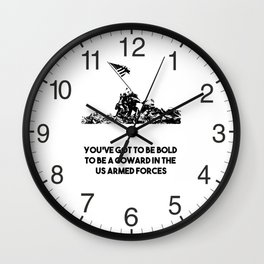 Raising Flag on Iwo Jima US Armed Forces Wall Clock