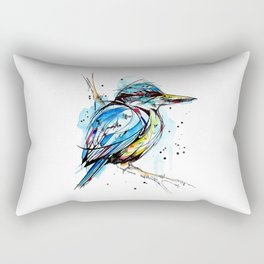 Bold Kingfisher  Rectangular Pillow