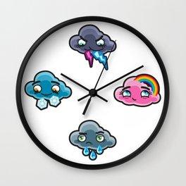 Moody: rain Wall Clock