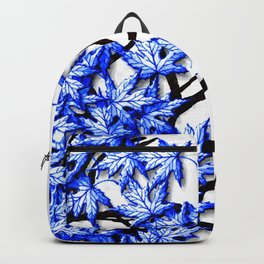 Maple Leaves Blue Backpack