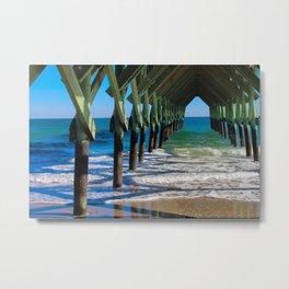 Wrightsville Beach Pier North Carolina Metal Print