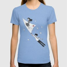 Paperman SMALL Tri-Blue Womens Fitted Tee