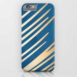 Swish - Orange Sherbet Shimmer on Saltwater Taffy Teal iPhone Case