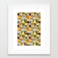 quilt Framed Art Prints featuring quilt by notbook