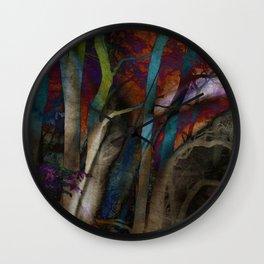 Funky Woods - JUSTART © Wall Clock