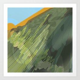 steel mountains 2 Art Print