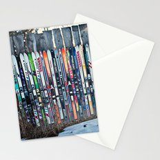 Skis Stationery Cards