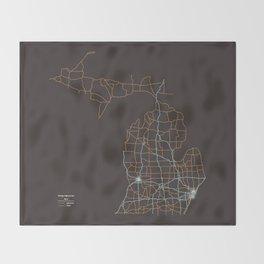 Michigan Highways Throw Blanket