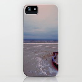 Logging by the sea iPhone Case