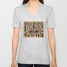 Vintage Cannon & Artillery Diagrams (1907) Unisex V-Neck