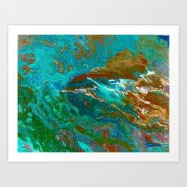 Earth by Noora Elkoussy Art Print
