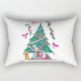 Meowy Christmas Rectangular Pillow
