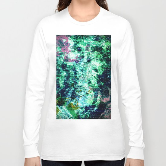 Face in Wood Abstract two Long Sleeve T-shirt