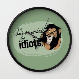 Idiots Wall Clock