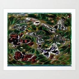 Insect Models: Beautiful Butterflies 04-02 Art Print