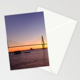 Arthur Ravenel Jr. Bridge in Charleston, South Carolina USA during sunset. Stationery Cards