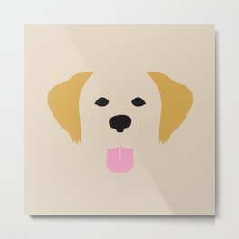 Golden Retriever Dog Illustration Metal Print