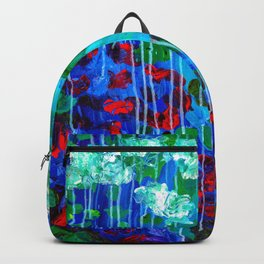 Abstract Flowers - No one knows her better Backpack