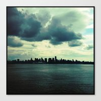 skyline Canvas Prints featuring Skyline by Naomi Atkinson