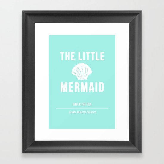 Disney Princesses: The Little Mermaid Minimalist Framed Art Print