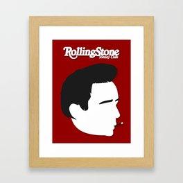 Johnny Cash, Minimalist Rolling Stone Magazine Cover Framed Art Print