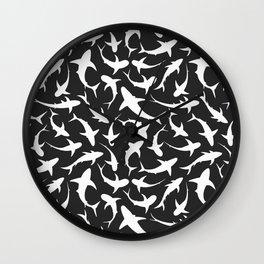 Sharks (inverted) Wall Clock