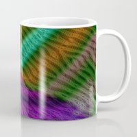 knit Mugs featuring Knit by RingWaveArt