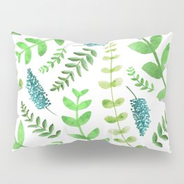 Greenery Leaves Pattern Pillow Sham