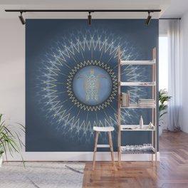 Dark Blue Gold Turtle And Mandala Wall Mural