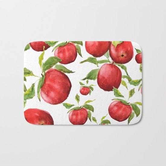 red apple Bath Mat